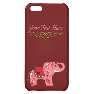 Henna Elephant (Red/Pink) iPhone 5C Cover