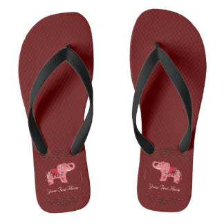 Henna Elephant (Red/Pink) Thongs