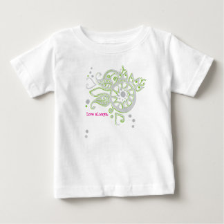 Henna Flower Love Always Drawing Baby T-Shirt