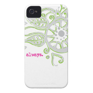 Henna Flower Love Always Drawing iPhone 4 Case
