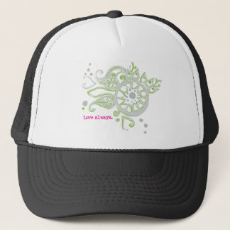 Henna Flower Love Always Drawing Trucker Hat