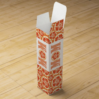 Henna Flower Pattern Sweet Like Mother's Love Wine Gift Boxes