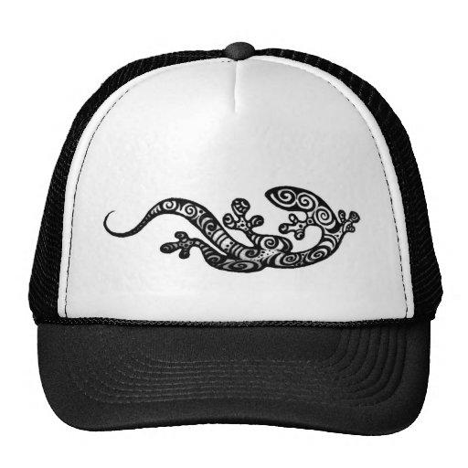 Henna Gecko Hat original drawing by Cynthia Mc
