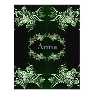 Henna Green Mehndi Bollywood Card