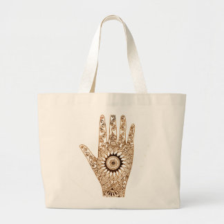 Henna Hand Large Tote Bag