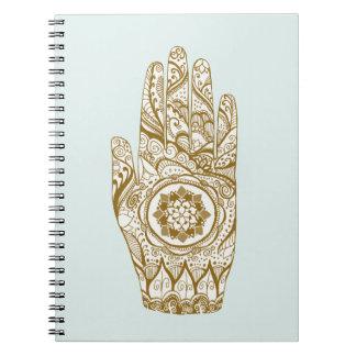 Henna Hand Lotus Notebook