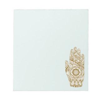 Henna Hand Lotus Notepad