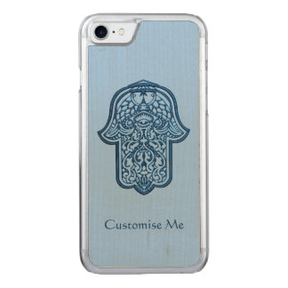 Henna Hand of Hamsa (Blue) Carved iPhone 7 Case