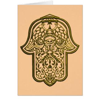 Henna Hand of Hamsa (Golden) Card