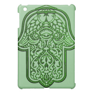 Henna Hand of Hamsa (Green) iPad Mini Cover