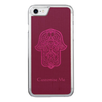 Henna Hand of Hamsa (Pink) Carved iPhone 7 Case