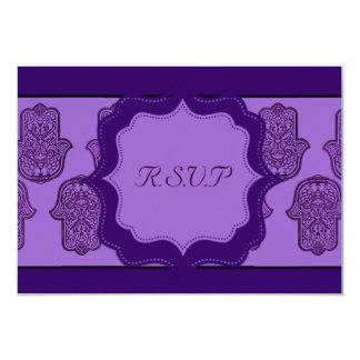 Henna Hand of Hamsa (Purple) Card