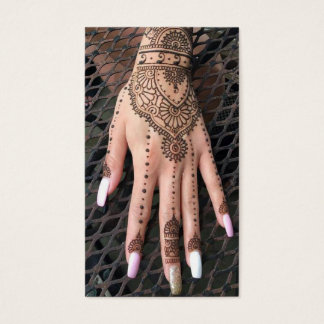 Henna Hand Tattoos Business Card