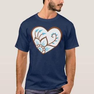 Henna Heart Blue T-Shirt