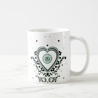 henna heart coffee mug
