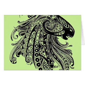 Henna Horse Blank Card