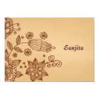 Henna Inspiration Personalised Stationery Notecard