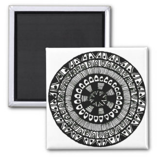 Henna inspired circle design fridge magnet