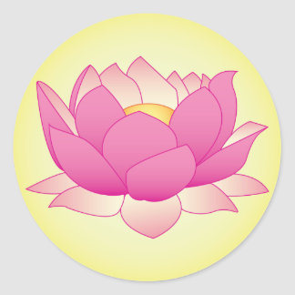 Henna Lotus Round Sticker