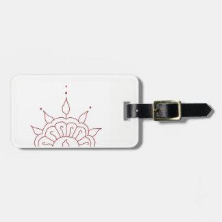 Henna luggage tag