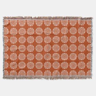 Henna Mandala Throw Blanket