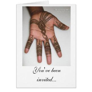 Henna Party Invitation