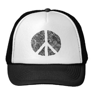 Henna Peace Sign reverse Trucker Hat