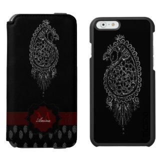 Henna Peacock (Silver) Incipio Watson™ iPhone 6 Wallet Case