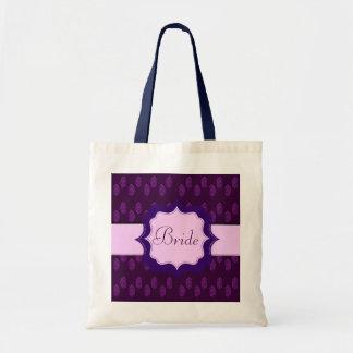 Henna Peacock (Wedding) (Violet) Budget Tote Bag