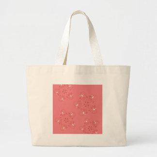 Henna Pink Gold ethno look Large Tote Bag