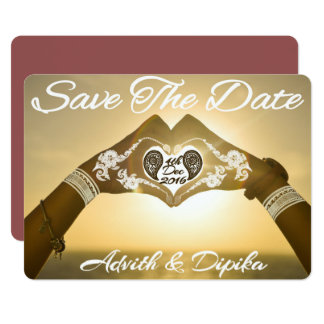 Henna Save The Date Cards