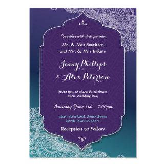 Henna Style Jewel Wedding Party Arabian Invitation