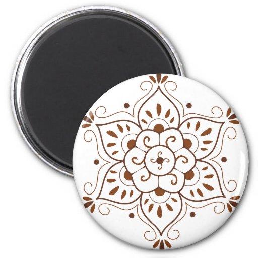 Henna Tattoo Mandala Fridge Magnets