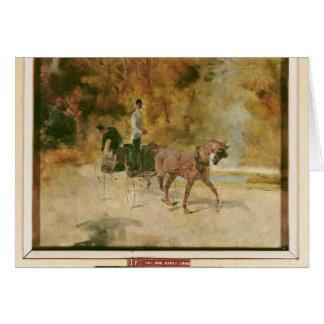 Henri de Toulouse-Lautrec   A Dog-Cart Card
