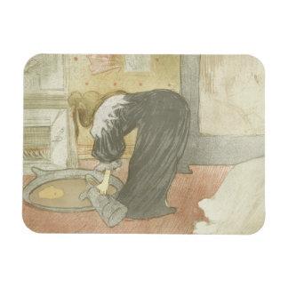 Henri de Toulouse-Lautrec - Elles - Woman at Tub Rectangular Photo Magnet