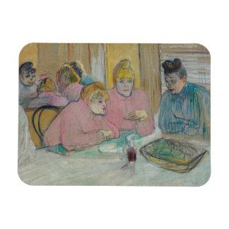 Henri de Toulouse-Lautrec - Ladies in Dining Room Rectangular Photo Magnet