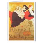 Henri de Toulouse-Lautrec Reine de Joie Greeting Card
