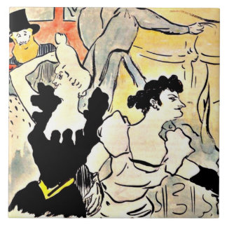 Henri de Toulouse-Lautrec, The Ball Ceramic Tile