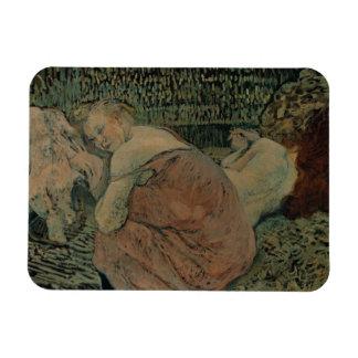 Henri de Toulouse-Lautrec - Two Friends Rectangular Photo Magnet