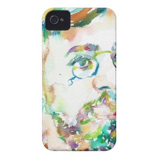 HENRI DE TOULOUSE-LAUTREC - watercolor portrait iPhone 4 Case
