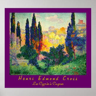 Henri Edmond Cross: Cypresses at Cagnes Poster