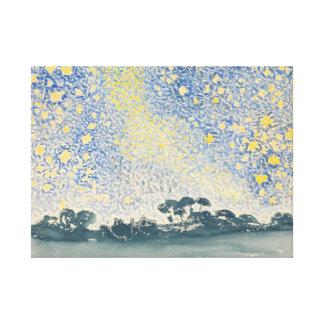 Henri-Edmond Cross Landscape with Stars Canvas Print