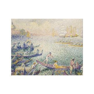 Henri-Edmond Cross - Regatta in Venice Canvas Print