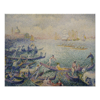 Henri-Edmond Cross - Regatta in Venice Poster