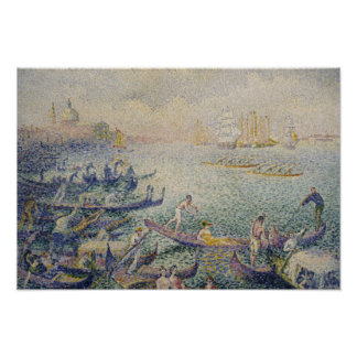 Henri-Edmond Cross - Regatta in Venice Poster