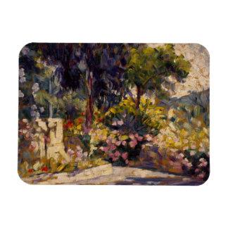 Henri-Edmond Cross - The Flowered Terrace Rectangular Photo Magnet