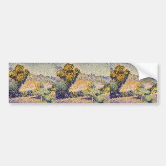 Henri-Edmond Cross- The Pink House Bumper Stickers