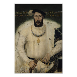 Henri II , King of France, 1555 Poster