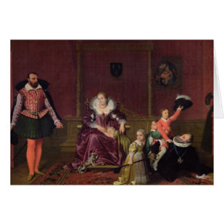 Henri IV  King of France and Navarre Playing Greeting Card
