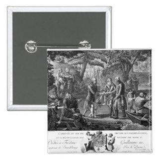 Henri IV  reconciling Frederick William II 15 Cm Square Badge